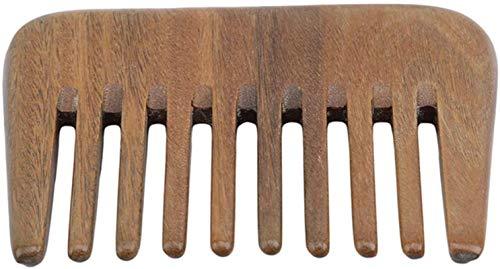 Kamm Holzkamm hölzerner Kamm, Weit Zahn-Haar-Kamm, handgemachte Kamm natürlicher grüner Sandelholz Massage-Kamm, handgemachte Be applicable compatible for Haarpflege, Haare kämmen Be applicable compat