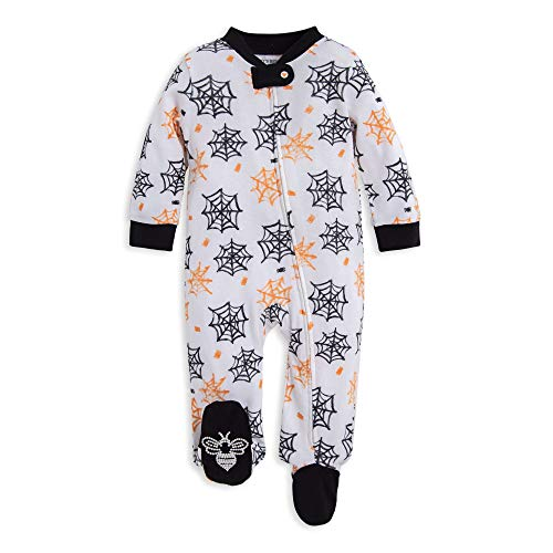 Burt#039s Bees Baby Unisex Baby Sleep amp Play Organic Pajamas NB9M OnePiece Zip Up Footed PJ Jumpsuit Itsy Bitsy Spider 69 Months