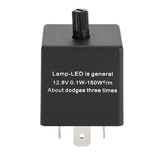 Relé intermitente ajustable para coche, relé intermitente ABS, accesorio duradero LED pequeño de 3 pines para motocicletas, relé intermitente para coches