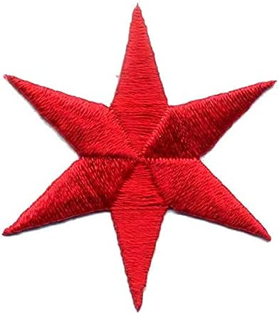 6 Pointed Star 1 9 A surprise price is realized 16'' Chicago Red On 10 Embroidered Pack Be super welcome Iron