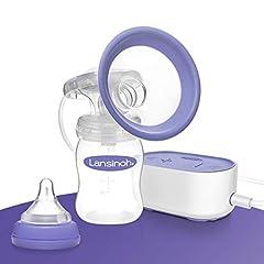 Lansinoh Pompe à lait électrique Compacte - particulièrement petite et silencieuse - idéale pour la maison et la route - Compatible avec Powerbank