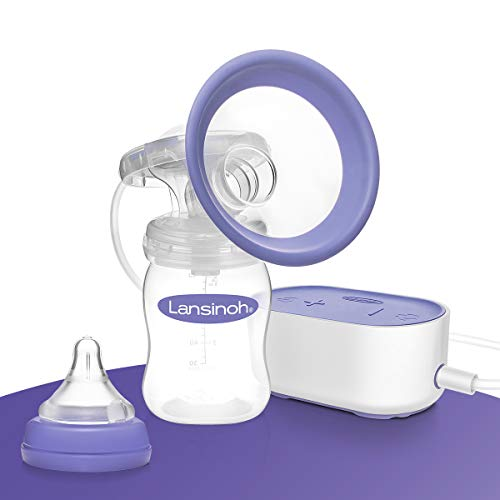 Lansinoh Elektrische Milchpumpe Kompakt - besonders klein & leise - ideal für zu Hause und unterwegs - Kompatibel mit Powerbank