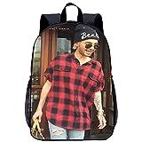 OKJK Mochila escolar de moda infantil Bill Kaulitz Mochila impresa en 3D Las mochilas impresas con estilo son ideales para la vida cotidiana Altura 45x Ancho 30x Grosor 15 cm