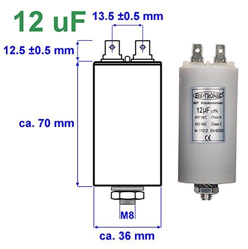 Kondensator Anlaufkondensator Motorkondensator Arbeitskondensator MKP 12µF 450V