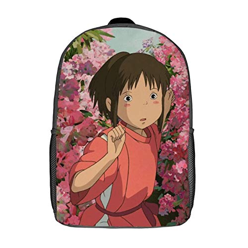 QUEMIN Mochila de ocio Spirited Away: mochila clásica para portátil de 17 pulgadas, mochila de camping, mochila de viaje al aire libre, mochila escolar universitaria