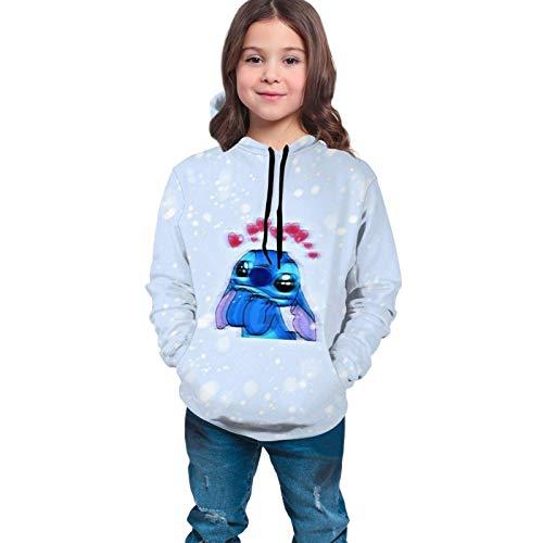 Lawenp Niño / Joven L Ilo y S Titch Suéter Unisex Niños 3D Imprimir gráfico Sudadera con Capucha Sudaderas Bolsillo