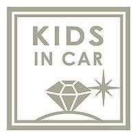imoninn KIDS in car ステッカー 【シンプル版】 No.26 ダイアモンド (グレー色)