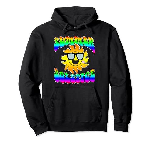 Solsticio de verano Solsticio de verano Sun Hippie Groovy Sudadera con Capucha