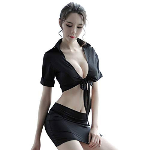 belilan Due Pezzi Donne Sexy Insegnante Roleplay Costume della Ragazza Camicia Biancheria del Pannello Esterno