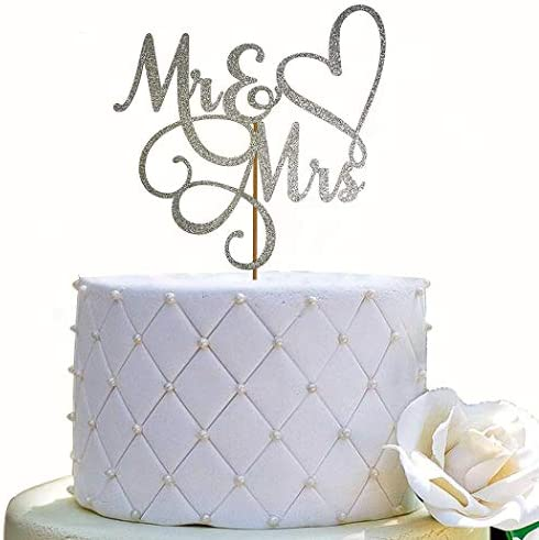 Mr and Mrs Cake Topper Bride and Groom Sign Wedding Engagement Cake Toppers Decorations Double product image