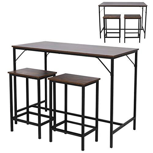 Muebles de Comedor Mesa de Bar de Madera Taburete de Bar para Oficina Sala de Estar Dormitorio