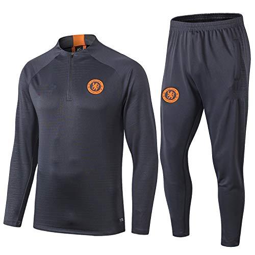 PARTAS Langarm Tracksuits Chelsea Football Wear Verein Uniform Chelsea Trainingsanzug Wettbewerb Anzug Herren 2 Stück Sets (Size : M)