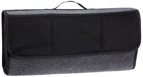 UNITEC 73615 Kofferraum-Organizer, Kofferaumtasche mit Klettverschluss Befestigung, robuster grauer...