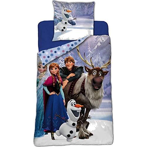 Reine des Neiges Frozen - Parure de lit - Housse de Couette 140 x 200 cm Taie 63 x 63 cm