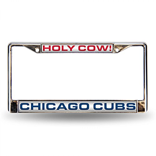 Rico Industries RIC-FCL5322 Chicago Cubs MLB Laser Chrome License Plate Frame