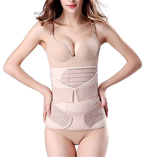 ksjfeowfk 3 in 1 Postpartum Girdle Support Recovery Belly Band Corset Wrap Body Shaper for After Birth Postnatal Waist Pelvis Shapewear (M)