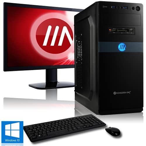 Memory PC Komplett PC A8-9600 4X 3.4 GHz, 8 GB DDR4, 1000 GB, Radeon R7 2GB, 24 Zoll TFT, Tastatur und Maus Set, Windows 10 Pro 64bit