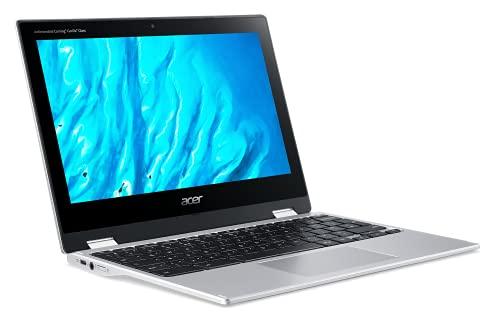 Acer Chromebook Spin 311 CP311-3H-K63V Ordinateur Portable Tactile Convertible 11,6'' HD LCD, PC Portable (Mediatek MT8183, RAM 4 Go, 32 GO eMMC, Mali-G72 MP3, Chrome OS) - Clavier AZERTY, Laptop Gris