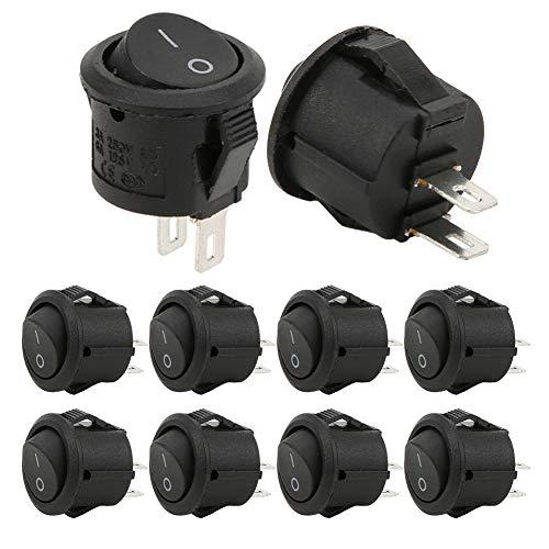 Elementos de Control industriales Interruptores Redondos pequeños de plástico 20 Piezas Resistencia a la corrosión para electrodomésticos