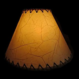 Rustic Lamp Shades (14 Inch Crackled)