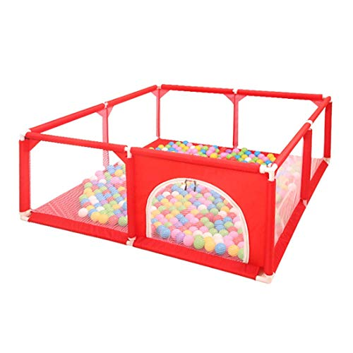 playpens for toddlers, 120/150cm Children Kids Playpen Tent for Play Inside or Outdoor Ball Pit Anti-fall Fence Safe Crawling,Red