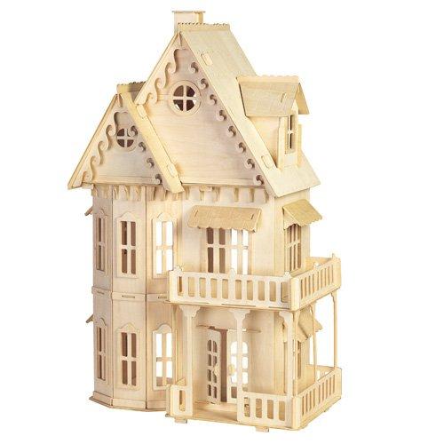 Etna Iława Gotisches Haus 3D Holzbausatz Puppenhaus Holz Steckpuzzle Holzpuzzle Kinder DH001