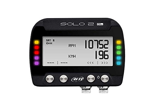 AIM SPORTLINE SOLO2 DL GPS LAP TIMER AND DASH LOGGER WITH RS232/CAN/POWER CONNECTION CABLE (X47 SERIES)