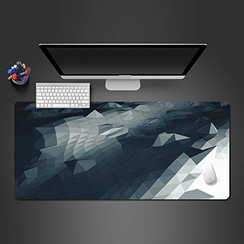 Alfombrilla de Ratón Abstracta 3D Alfombrilla de Goma para Mouse Alfombrillas Lavables Alfombrilla para Juegos Alfombrilla de Teclado para Computadora Portátil 800X300X3Mm