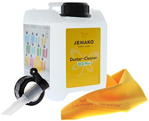 JEMAKO Dustar-Cleaner Eco Plus 2l Kanister inkl. Dustar Tuch 35 x 40 cm und Auslaufhahn