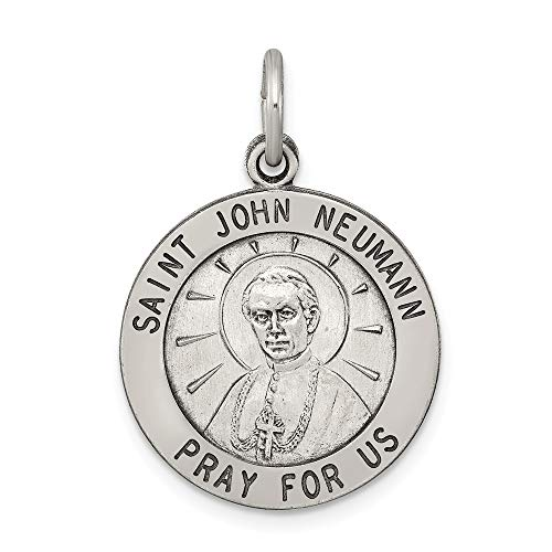 Saris and Things 925 Sterling Silber Antiqued Saint John neumann-Medaille
