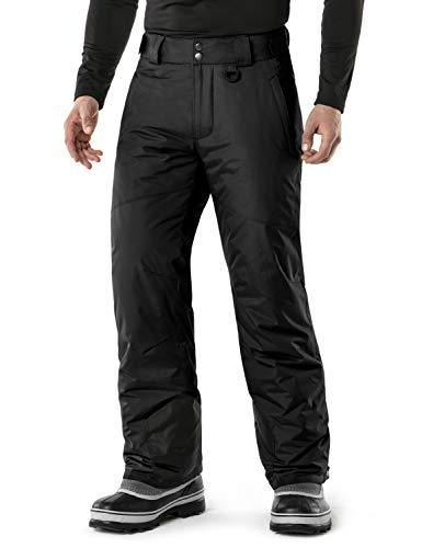 TSLA DRST Men's Winter Snow Pants, Waterproof Insulated Ski Pants, Ripstop Windproof Snowboard Bottoms, Snow Pants(ykb81) - Black, Medium