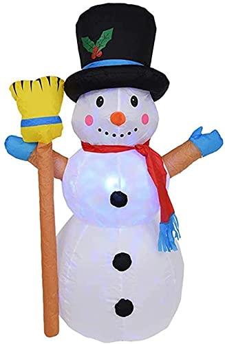 wsbdking Decoración de Navidad Inflación de Navidad 120 cm Muñeco de Nieve de Altura con Linterna giratoria Decoración estacional Aireado Adorno de césped Adorno Jardín Regalo