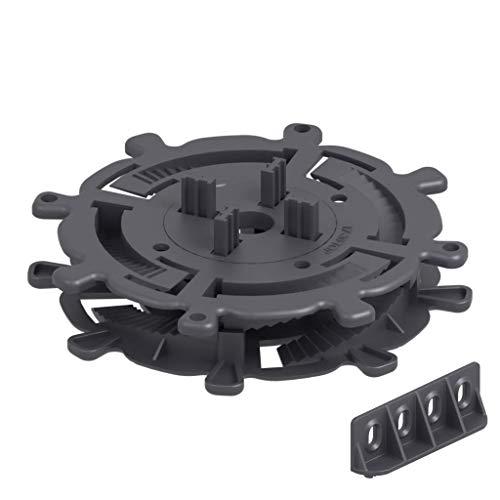 50 Stück Trevendo® Universal Stelzlager & Plattenlager S 17-30 mm für Holz, WPC und Stein