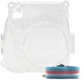 Crystal Instant Camera Case for Fujifilm Instax Mini 8/8+/9 With Strap - Clear
