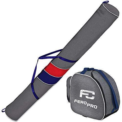 Ferocity Premium Set Skitas en Skischoenentas voor 1 paar skistokken schoenhelm [053]