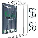 Ferilinso Protector de Pantalla Diseñado para iPhone 13 Mini, 3 Piezas HD Cristal Templado con 2 Piezas Protector de Lente de cámara, Funda Amistoso, Dureza 9H, 5.4 Pulgadas 5G, Sin Burbujas