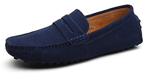 Eagsouni® Mocasines Pisos de Gamuza Hombres Loafers Casual Zapatos de Conducción Zapatillas