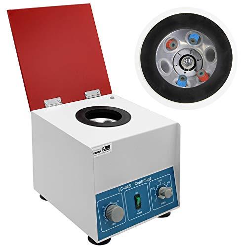 CGOLDENWALL Centrifuge Machine voor PRP Bloed Plasma Serum Productie met 4000rpm traploze snelheid/1795×g Centrifugale Kracht/6×20ml Capaciteit/60min Timer 80-1