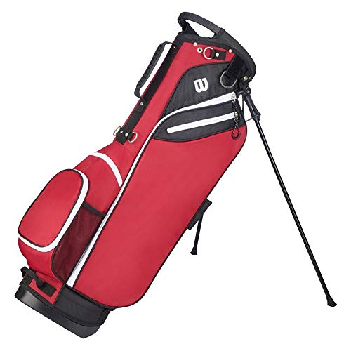 "Wilson ""W"" Carry Golf Bag, Red"