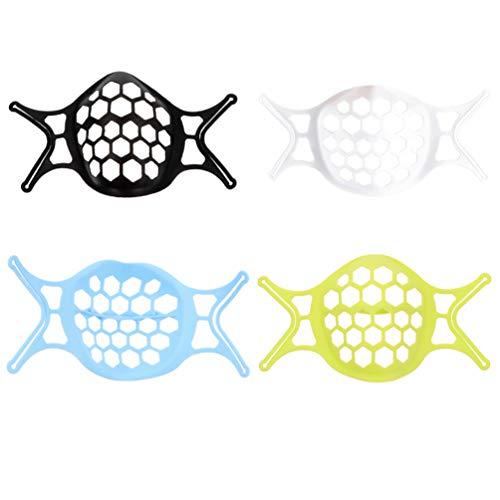 Healifty 3D Mundschutz Unterstützung Silikon Lippenstiftschutzständer 4 Stück Innenhalterung Lippenschutz Nase Atmung Rahmen Wiederverwendbar Make Up Schutz Unter Mundschutz Innenhalterung