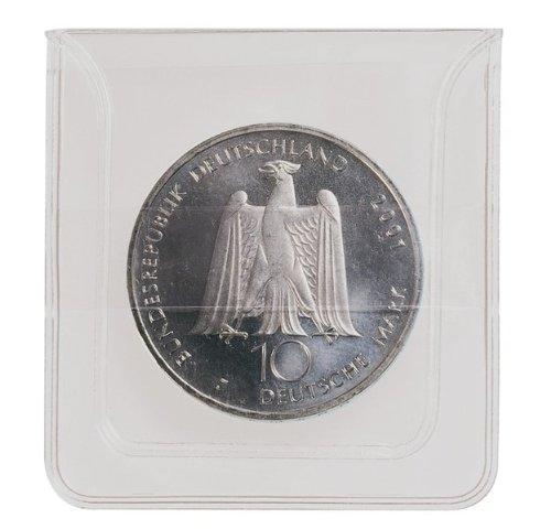 Lindner 2051 Münzen-Hüllen aus glasklarer PVC-Folie. - 100 St.