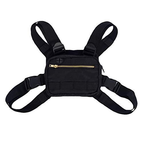 Leezo männer Frauen umhängetaschen Mode Brust Rig Tasche hip hop einstellbar Crossbody Taschen West Streetwear funktionale Taille Packs