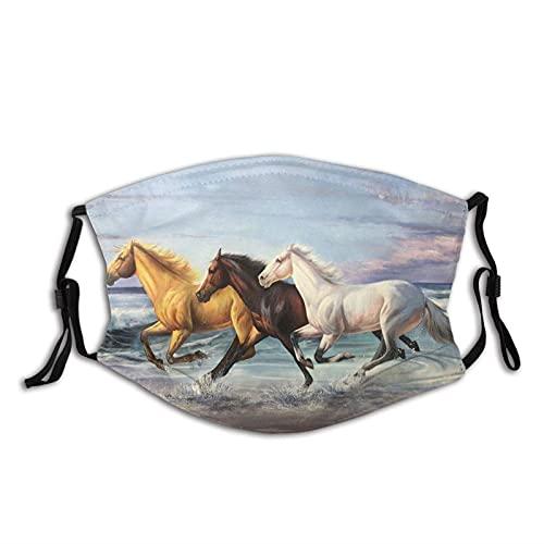 Bandana corriente fresca del paño de la máscara de la cara del caballo con los filtros, pasamontañas lavable reutilizable para la juventud adulta