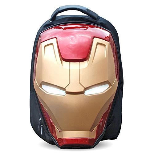 スーパーヒーロードール - 子供のギフト、33x49x25cm、アイアンマン3Dルミナスメンズバックパック、ファッションの大きなショルダーバッグ、キャンバスバッグ、驚異の贈り物 .スーパーヒーローキャラクター (Size : 33x49x25cm)