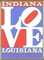 ポスター ロバート インディアナ Love louisiana 額装品 アルミ製ハイグレードフレーム(ゴールド)