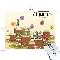 秋の動物 マウスパッド 滑り止めゴム製裏面 おしゃれ 厚くした 事務用のマウスパッド 携帯用 25X19CM
