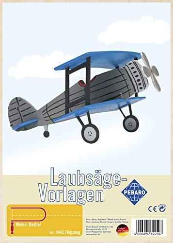 Pebaro Laubsägevorlage aus Sperrholz Motiv Flugzeug, Holz, DIN A4