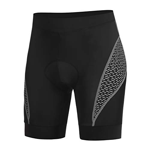 COOrun Men's Cycling Shorts 3D Sponge Seat Padding with High Density Cycling Shorts for Men (Grey, XL)