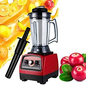 BPA Free 3.3HP 2800W Heavy Duty Commercial Blender Mixer Power Juicer 110V Red