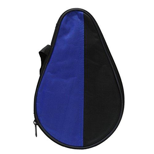 Mentin Tasche für Tischtennisschläger, Schwarz & Blau (28 x 18,5 cm)